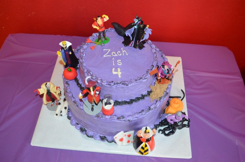 Villain Cake top view