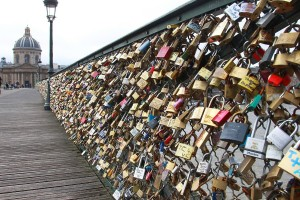 Locks on the Pont des Arts Image Credit: Huffingtom Post