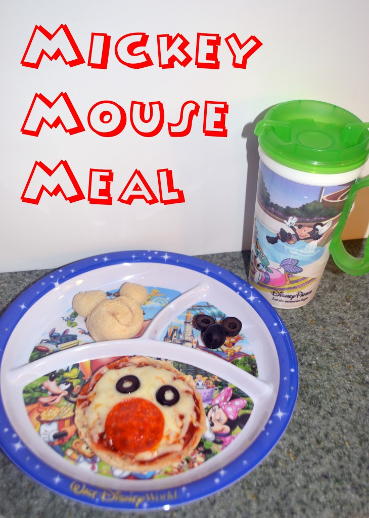 Mickey Mouse Meal: English Muffin Pizzas and Mickey Breadsticks