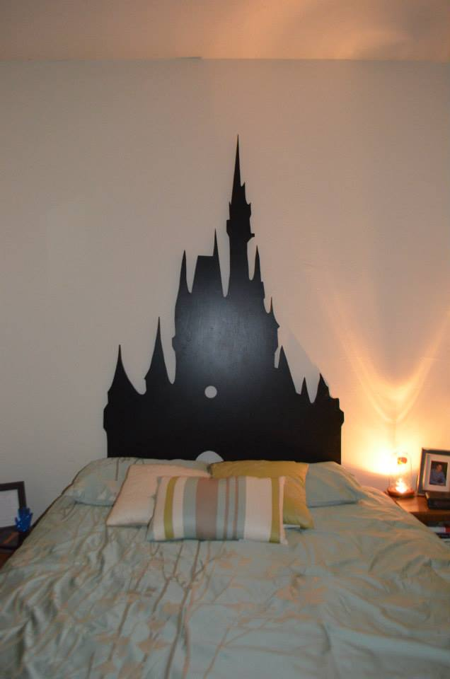 Headboard in room