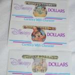 Disney Dollars Envelopes