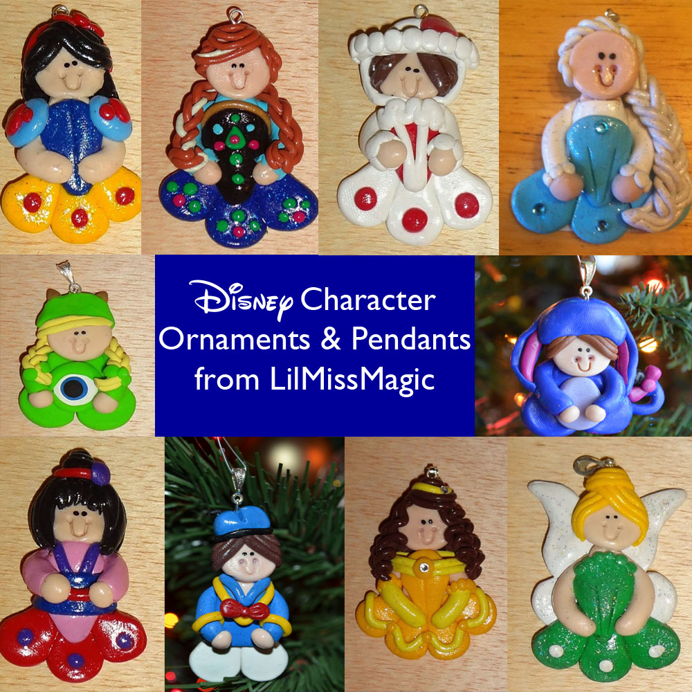 Hand-Made Disney Character Ornaments from LilMissMagic