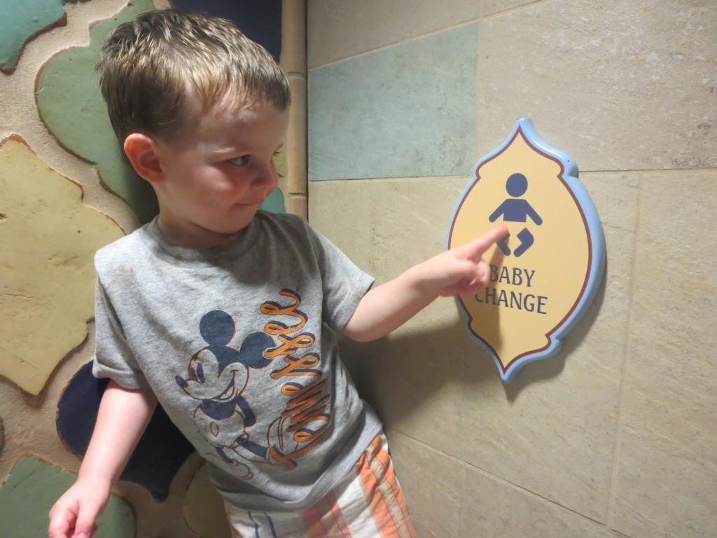 Baby Bathroom Sign