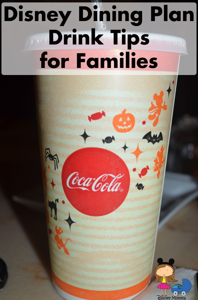 Disney Dining Plan Drink Tips for Families