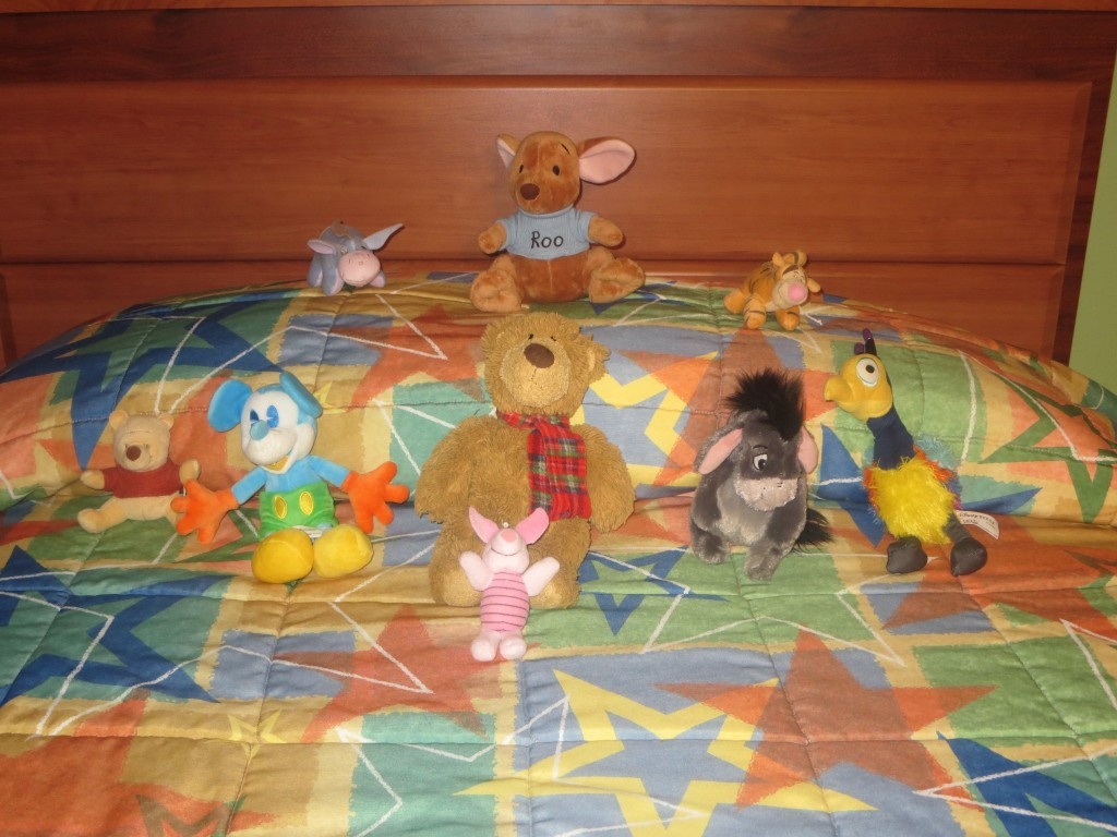 Stuffed Animals arranged