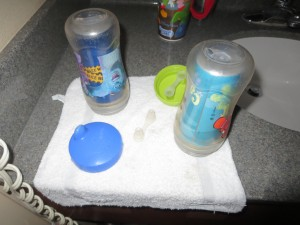Packing Dish Soap for cups