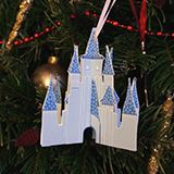 Christmas Cinderella Castle ornament