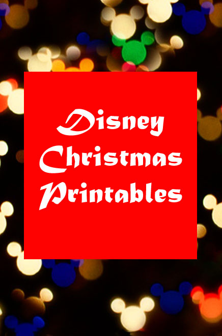 Free Disney Christmas Printables