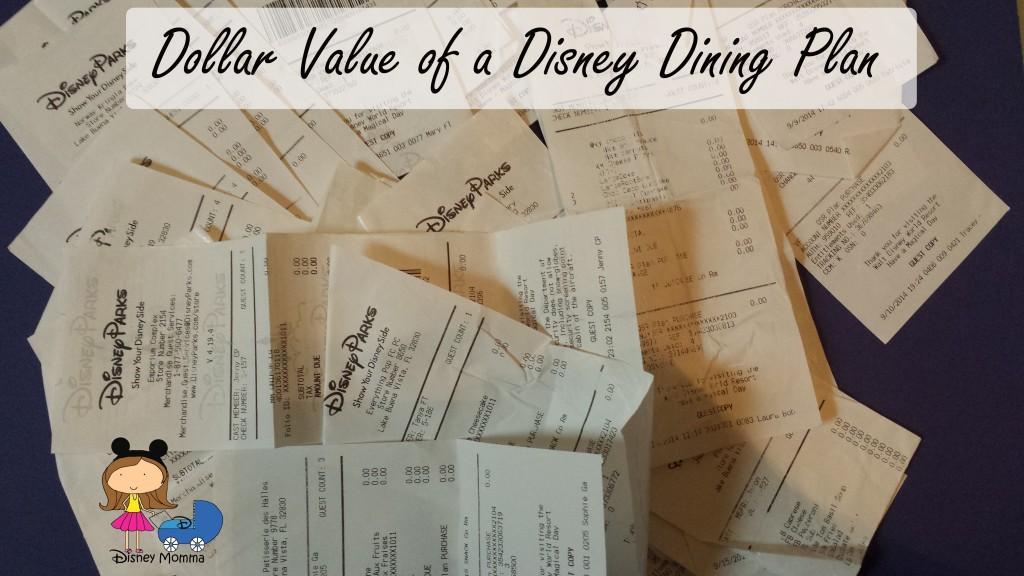 Dollar Value of a Disney Dining Plan